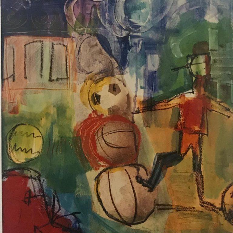 """Serie Collagen """"Der Kicker"""" - 62x48"""